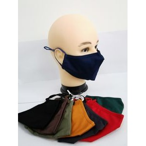Cotton Reusable Face Mask with Nose wire and Filter Pocket